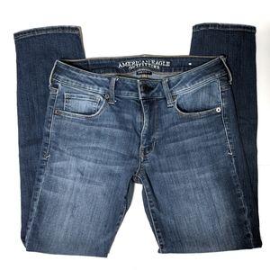 American Eagle Mid Wash Skinny Jeans sz 6 Short